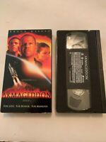 Armageddon Starring Bruce Willis VHS Video Tape