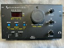 Elecraft KX1 transceiver with KXAT1 tuner and paddles