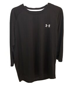"""Mens Under Armour Black Skin, T Shirt, Top  Large Chest 46"""""""