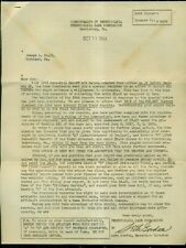 """1943 PA Game Commission Hunter's License """"Game-Kill Report"""" Letter"""