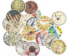21pc Vintage clock stickers Lots Die-cuts for junk bullet journal scrapbook
