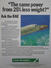 11/1981 PUB LUCAS AEROSPACE RAF NIMROD CCFG CONSTANT FREQUENCY GENERATOR AD