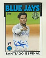 2021 Topps 1986 35th ANNIVERSARY AUTOGRAPH SANTIAGO ESPINAL RC Rookie AUTO