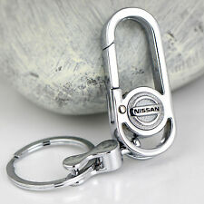 Fashion Zinc Alloy Metal car logo key chain key-ring Fit For Nissan