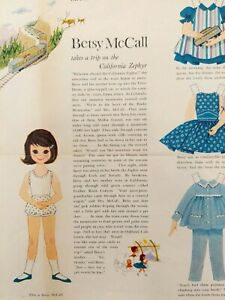 Betsy McCall Paper Doll 1960 Magazine Page Trip on California Zephyr Norge Ad