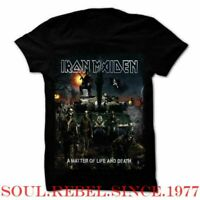 IRON MAIDEN A MATTER OF LIFE AND DEATH  PUNK ROCK  MEN'S SIZES T SHIRT