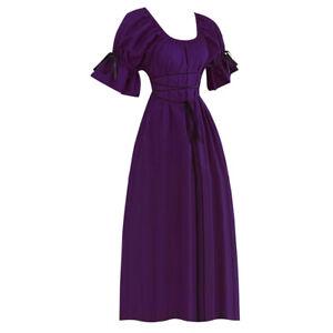 Women Renaissance Victorian Medieval Halloween Cosplay Costumes Vintage Dress