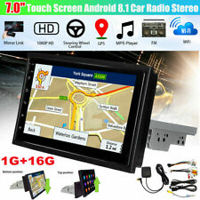 7'' 1DIN Écran tactile Android 8.1 voiture Radio Stereo bluetooth WIFI GPS MP3