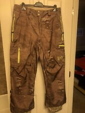 BURTON AK Snowboard Pants GORE-TEX Camo men's L
