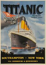 Titanic Vintage Travel Poster Fine Art Lithograph Hand Pulled Peter Fussey S2
