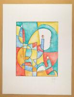 Opera unica dipinto firmato a mano acquerello su cartoncino di Stefano Fiore