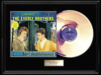 EVERLY BROTHERS  A DATE WITH LP GOLD METALIZED RECORD VINYL LP DISC  NON RIAA