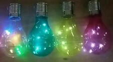 X4 solar multicoloured  light bulb hanging garden tree decoration bulbs lights
