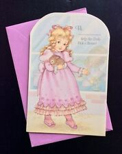 Help the Dolly Pick a Bonnet Paper Doll Greeting Card, Unused, 1980's