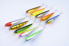 10pcs Pencil Baits Fishing Lure Bass Topwater Bait Crankbaits Tackle 21.8g 11cm