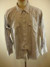 Mens XL Ely Cattleman Gray Western Pearl Snap Shirt Vtg Long Sleeve Cowboy Retro