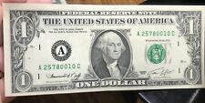 1974 $1 DOLLAR BILL OLD US PAPER MONEY CURRENCY GREEN SEAL COLLECTOR NOTE.0010C