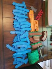 Thomas Train Tomy Trackmaster Blue Track Lot  and buildilngs