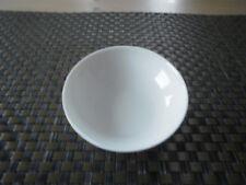 Dipschälchen schräg 8,5 cm  Jade Lotus weiß uni Königlich Tettau Porzellan Neu