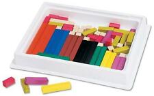 LEARNING RESOURCES LER 7500 CUISENAIRE RODS MATH TEACHER MANIPULATIVES K-8 NEW
