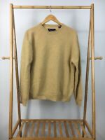 Alan Flusser Men's 100% Pure Cashmere Crewneck Pullover Knitted Sweater Size L