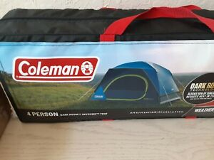 Coleman Dark Room Skydome 4-Person Camping Tent, 2000035972