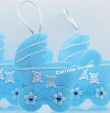 24 BABY SHOWER IT'S A BOY FAVORS FILLABLE CARRIAGE DECORATIONS BLUE RECUERDOS