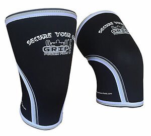 Knee Sleeves Compression Supports 7mm Neoprene Stabilizes Assists with Recovery