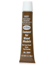 Cement for Wood Models (5/8 oz tube) >>We combine shipping<< Testors Number 3503