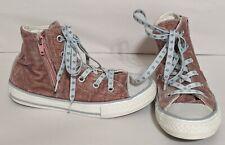 Converse High Top Velvet Zipper Children's Shoes Size 13