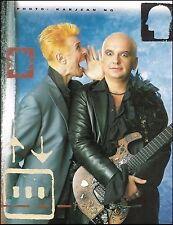 David Bowie & Reeves Gabrels with custom Parker guitar 8 x 11 color pin-up photo