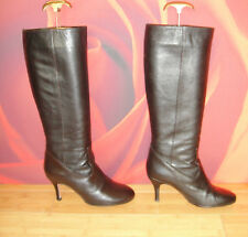 *17* Superb HOBBS brown leather  boots EU 38