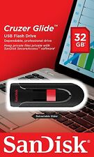 SanDisk 32GB Cruzer GLIDE USB Flash Pen Drive SDCZ60-032G-B35 Sealed Retail Pk
