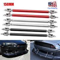150mm Adjustable Front Bumper Lip Splitter Strut Rod Tie Support Bar For Ford