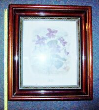 ANTIQUE WALNUT DEEP well mirror  PICTURE FRAME 14 x 16 nice