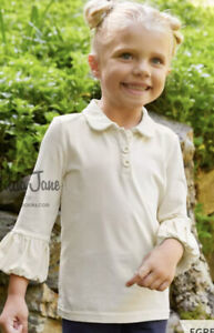 Matilda Jane Perfectly paired Collared Puffer Tee Egret size 6 NWT