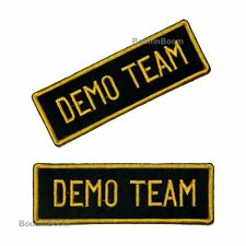 NEW 2pc Set DEMO Team Patches for Taekwondo Karate JiuJitsu Martial Arts Uniform