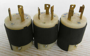 (3) Hubbell 231A Twist Lock Plug 30A 250V