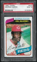 1980 Topps George Foster Cincinnati Reds #400 PSA 9 MINT SET BREAK