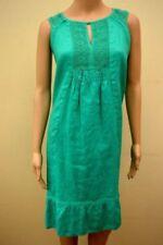 5a83d367b4 Linen Blend Green Women s Tunic Smock Dress Dresses
