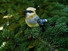 Mini Resin Cedar Waxwing Bird Figurine