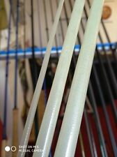 Bloke XLSG Fibreglass fly rod blank 8' 3-piece 5wt. Clear/Opaque