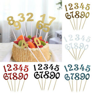 Cake Inserts 0-9 Digital Birthday Decorations Party Supplies DIY Accessories