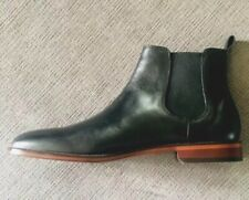 New Mens Black Leather Chelsea Boots Size 10 Comfortable & Sharp Dress Man