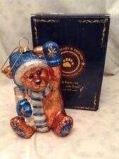 Boyd's Bears Teddy Bear Klaus Von Fuzzner Chrismas Ornament W/ Box Limited Ed.