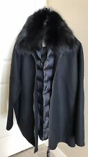 """NEW MONCLER """"BUXUS"""" 2 IN ONE WOOL COAT & FUR COLLAR DOWN GILET VEST SIZE 4 $3275"""