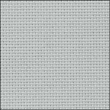 """18 COUNT CONFEDERATE GRAY ZWEIGART AIDA FABRIC 18"""" x 21"""",FREE CHART & NEEDLES!"""