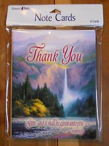 8 Leanin Tree Thank You Cards Christian Luke 6:38 KJV Give & it Shall Be Given