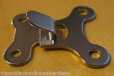 FISARMONICA BASS cinturino tipo di gancio fissaggio italcinte No. 130 CROMATO nuove parti