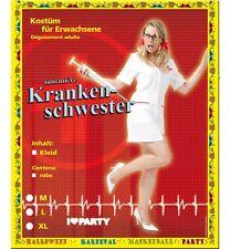 Krankenschwester Kostüm Gr. M L XL 38 40 42 44 1-tlg. Kleid weiß Ärztin 12152113